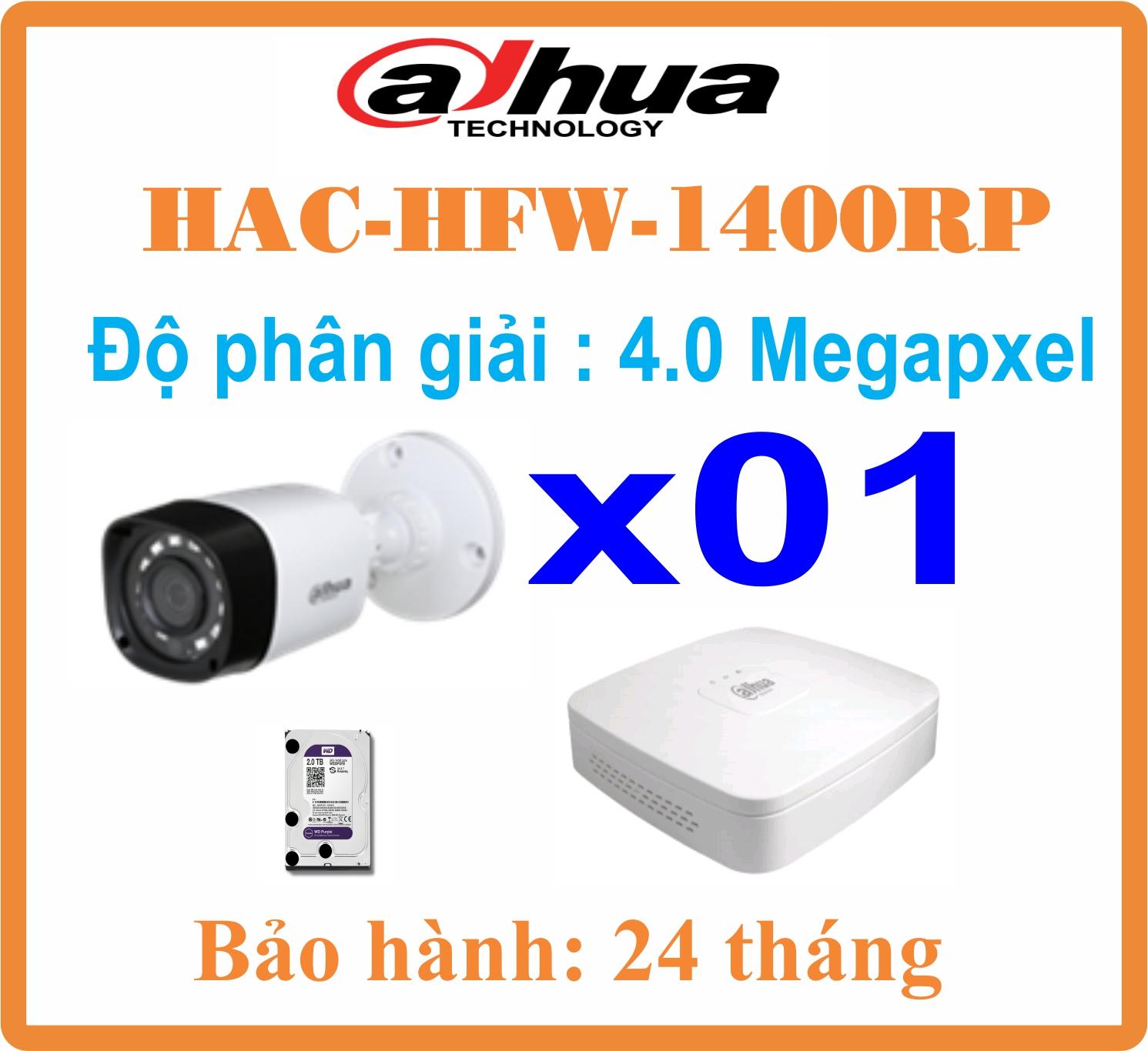 BỘ 01 CAMERA Dahua 4.0Megapxel