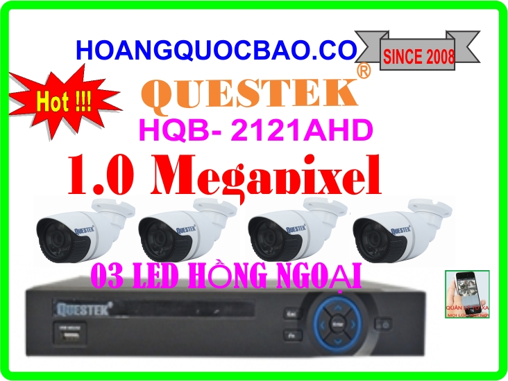 Hệ Thống 4 Camera Khuyến Mãi QUESTEK - 2121AHD