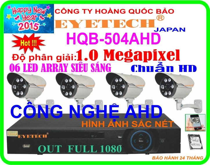 Hệ Thống 4 Camera Khuyến Mãi CAMERA EYETCH HQB - 504AHD