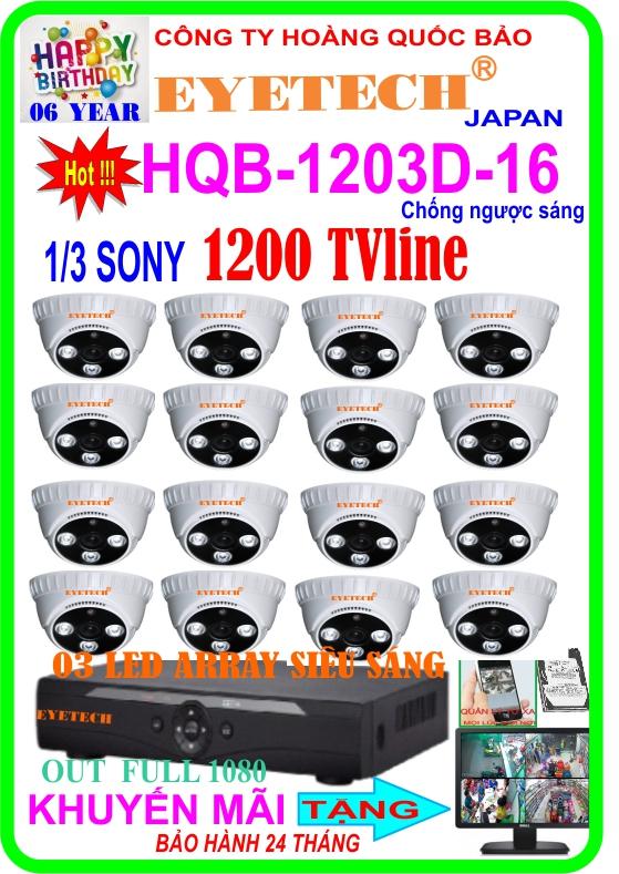 Hệ Thống 16 Camera Khuyến Mãi EYETECH HQB- 1203D-16