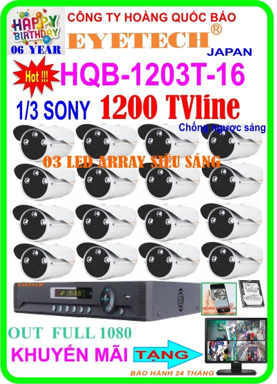 Hệ Thống 16 Camera Khuyến Mãi EYETECH HQB- 1203T-16