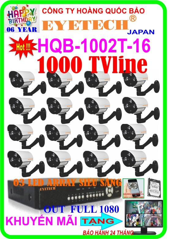 Hệ Thống 16 Camera Khuyến Mãi EYETECH HQB 1002T-16
