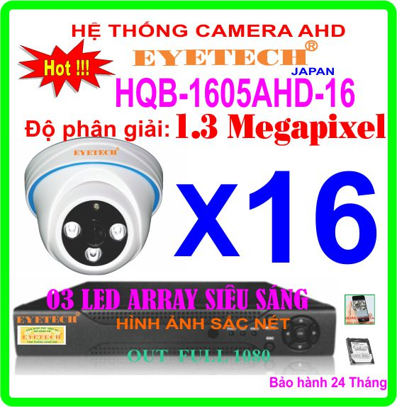 Hệ Thống 16 Camera Khuyến Mãi EYETECH HQB-1605AHD-16