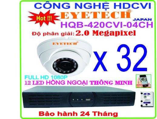 Hệ Thống 16 Camera Khuyến Mãi EYETECH HQB-420CVI-16CH