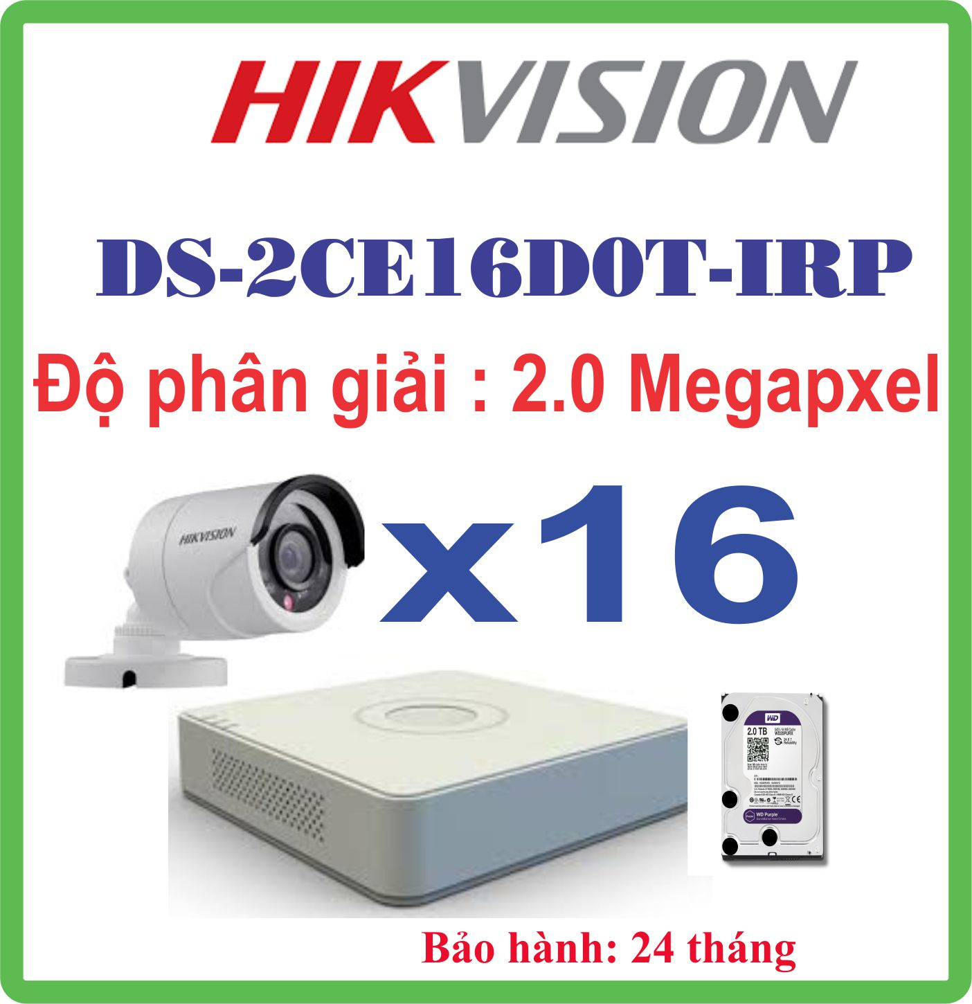 Hệ Thống 16 Camera HIKVISION