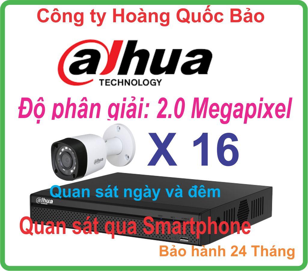 Hệ Thống 16 Camera Khuyến Mãi DAHUA 2.0 Megapixel
