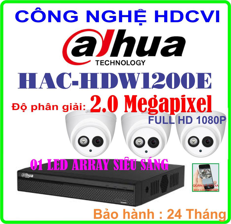 Hệ Thống 3 Camera Khuyến Mãi CAMERA DAHUA HAC-HDW1200E