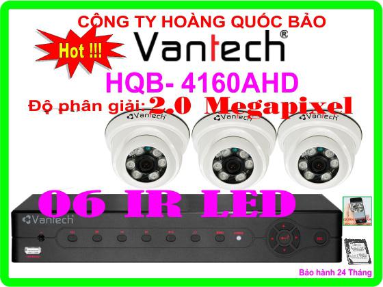 Hệ Thống 3 Camera Khuyến Mãi CAMERA VANTECH HQB-4160AHD