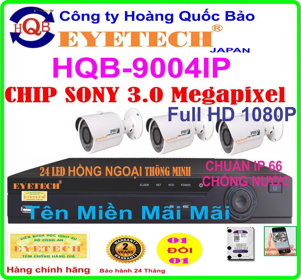 Hệ Thống 3 Camera Khuyến Mãi EYETECH ET-9004IP