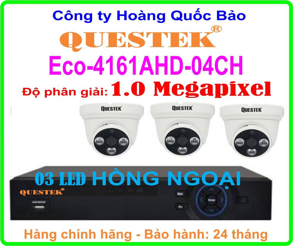 Hệ Thống 3 Camera Khuyến Mãi QUESTEK Eco-4161AHD - 04CH