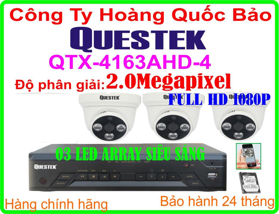 Hệ Thống 3 Camera Khuyến Mãi QUESTEK QTX-4163AHD