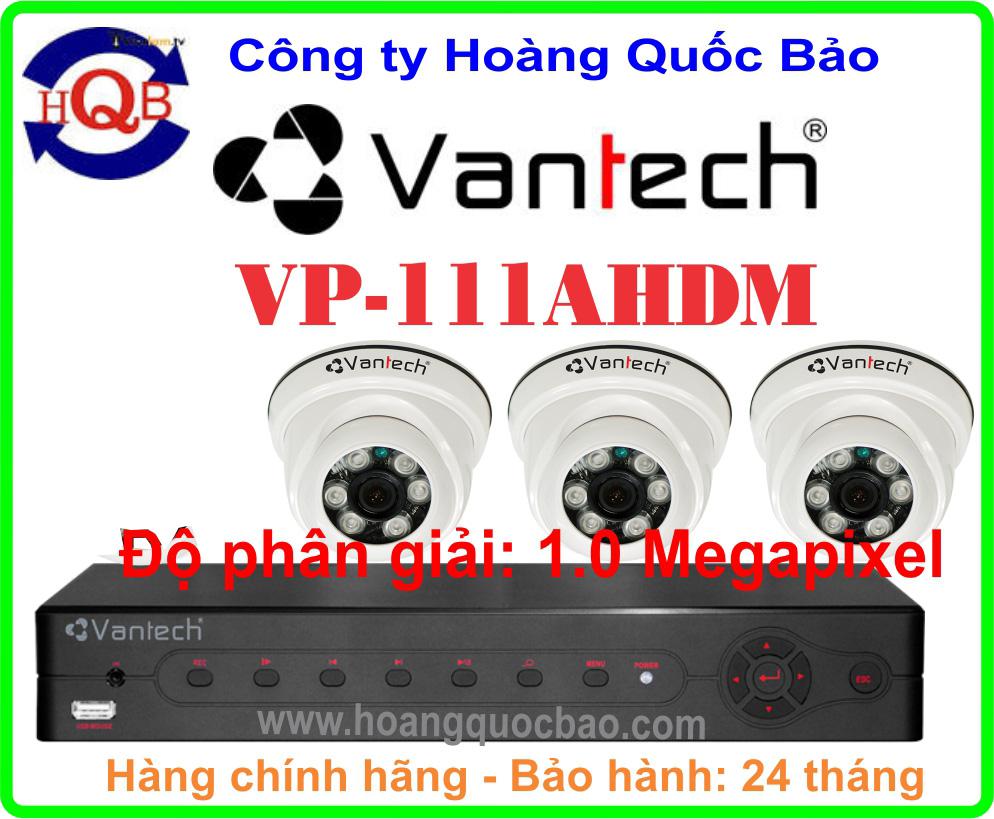 Hệ Thống 3 Camera Khuyến Mãi VANTECH VP-111AHDM -04CH