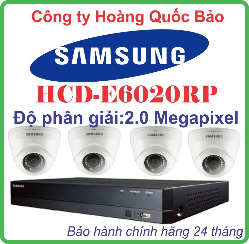 Hệ Thống 4 Camera Khuyến Mãi SAMSUNG HCD-E6020RP - 4CH