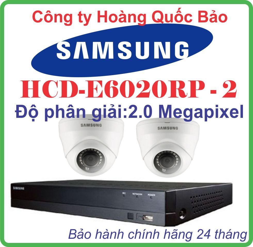 Hệ Thống 2 Camera Khuyến Mãi SAMSUNG HCD-E6020RP -2CH